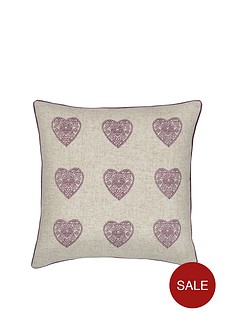 catherine-lansfield-catherine-lansfield-vintage-hearts-cushion-heather