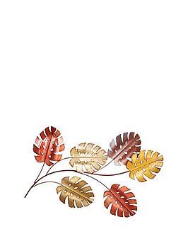 multicoloured-leaves-metal-wall-art
