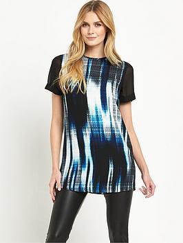 v-by-very-chiffon-sleeve-printed-tunic
