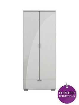 alexia-2-door-1-drawer-high-gloss-wardrobe