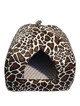 rosewood-animal-print-pyramid-bed-16inch