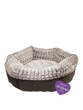 rosewood-small-sleepers-tweed-amp-plush-bed-19inch