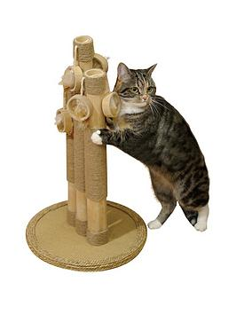 Rosewood Natural Basil Cat Scratching Post Trio