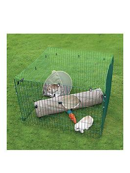 rosewood-deluxe-small-animal-play-pen-with-net