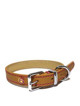 rosewood-luxury-leather-collar-tan-14-18inch-x-075inch