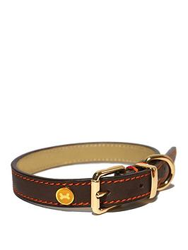 rosewood-luxury-leather-collar-brown-14-18inch-x-075inch