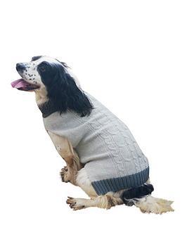 rosewood-grey-cable-knit-amp-fur-trim-jumper-large-46cm