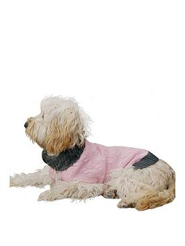 rosewood-pink-cable-knit-amp-faux-fur-trim-small-dog-jumper-32cm