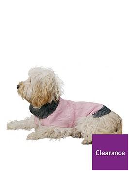 rosewood-pink-cable-knit-fur-trim-jumper-medium-38cm