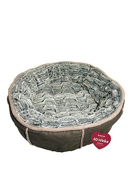 rosewood-grey-deep-plush-donut-bed-27inch