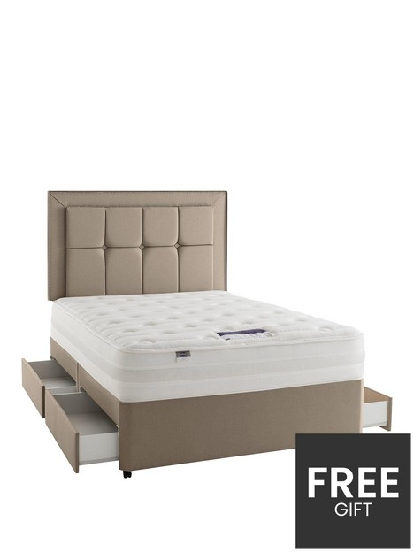 silentnight-paige-eco-1400-pocket-divan-bed-with-storage-options-headboard-not-included