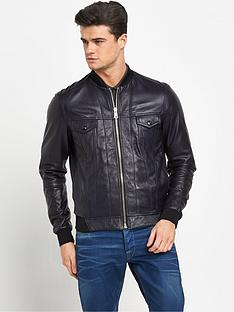 replay-leather-mens-bomber-jacket