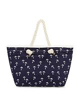 Anchor Print Beach Bag