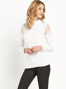 v-by-very-lace-insert-cold-shoulder-top