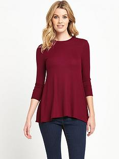 v-by-very-rib-high-neck-swing-jersey-top