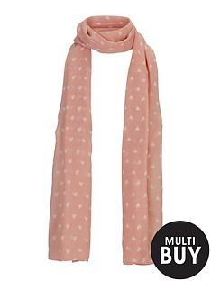 girls-heart-print-scarf