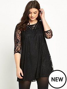 so-fabulous-lace-up-swing-dress