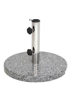 15kgnbspgranite-stainless-steel-parasol-base