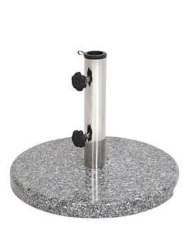15kgnbspgranite-stainless-steel-parasol-base