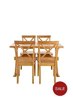 axxonnbsp120-cm-dining-table-nbspnbsp4-chairs