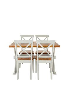 ideal-home-axxonnbsp120-cm-dining-table-nbspnbsp4-chairs