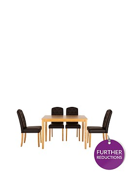 primonbsp120-cm-dining-table-4-quilted-effect-dining-chairs