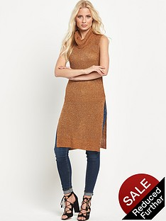 v-by-very-cowl-neck-side-split-tunic