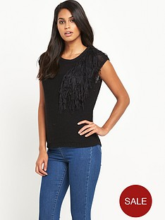 v-by-very-tassel-neck-trim-short-sleeve-jumpernbsp