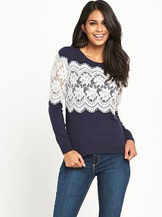 v-by-very-lace-insert-jumper