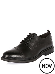 river-island-mens-textured-leather-formal-shoe