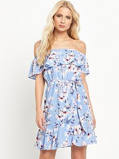 v-by-very-off-the-shoulder-printed-dress