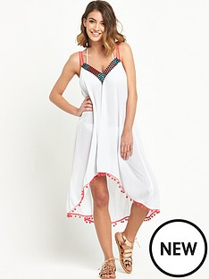 mink-pink-embellished-dip-hem-beach-dress