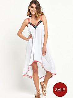 mink-pink-embellished-dip-hem-beach-dress