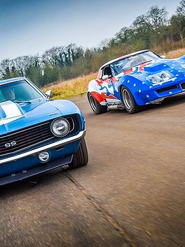 Virgin Experience Days Double American Muscle Car Blast Plus High Speed Passenger Ride