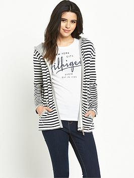 hilfiger-denim-hooded-stripe-zip-through-top