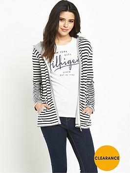hilfiger-denim-hooded-stripe-zip-through-top