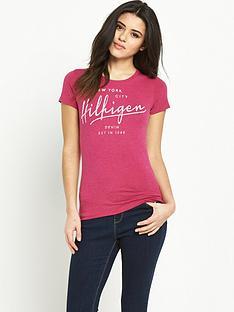 hilfiger-denim-logo-t-shirt-sangria