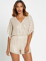 Beaded Batwing Playsuit