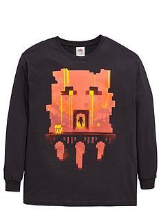 minecraft-minecraft-boys-long-sleeve-glimpse-red-face-t-shirt
