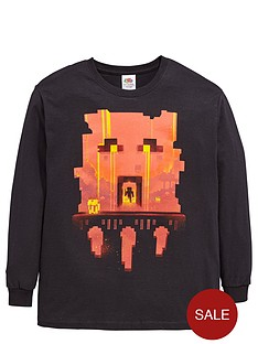 minecraft-minecraft-boys-long-sleeve-glimpse-red-face-t-shirt