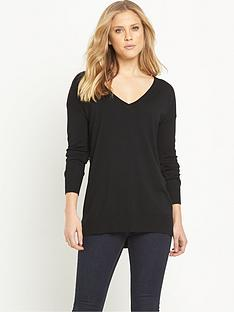 v-by-very-long-sleeve-v-neck-side-split-jumpernbsp