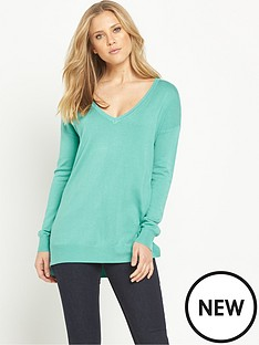 v-by-very-long-sleeve-v-neck-side-split-jumper