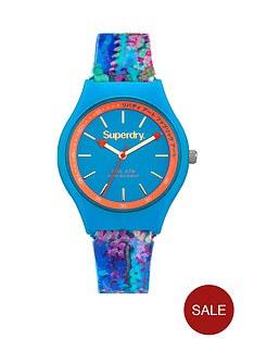 superdry-superdry-urban-liberty-blue-dial-blue-silicone-flower-printed-strap-ladies-watch
