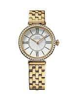 Classic Gold Tone Stainless Steel Bracelet Ladies Watch