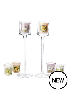 yankee-candle-2-stemmed-clear-votive-holders-with-6-classic-votives