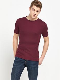 river-island-ribbed-short-sleevenbspt-shirt