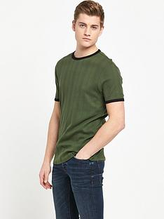 river-island-short-sleeved-variated-rib-t-shirt