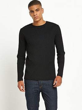 river-island-long-sleeved-chunky-rib-tshirt