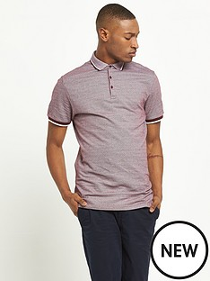 river-island-short-sleeved-jacquard-polo-top
