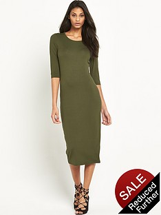v-by-very-34-sleeve-jersey-midi-dress